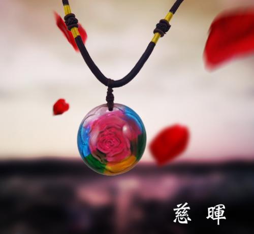 SY-A62-5 手工琉璃項鍊 - 慈暉