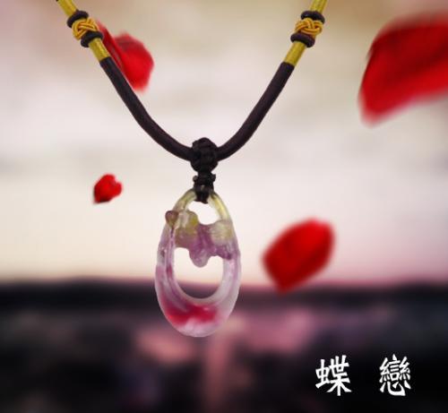 SY-A62-6 手工琉璃項鍊 - 蝶戀