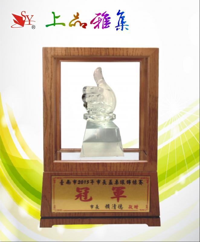 SY-Z27 水晶木框獎座